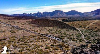 Vistas desde la estación base de la que parte el teleférico del Teide
