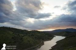 Atardecer sobre Sierra Morena, desde Baños de la Encina