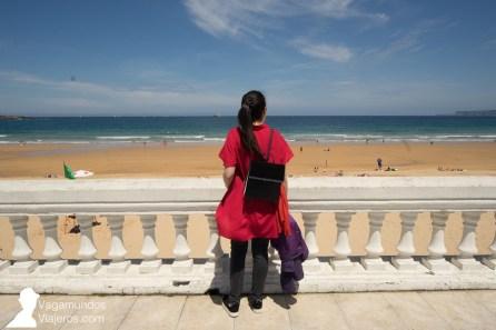 Paseo marítimo de la Playa del Sardinero en Santander