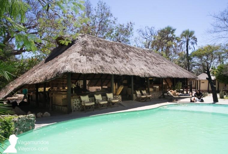Bar y piscina de Gweta Lodge, en Gweta, Botswana