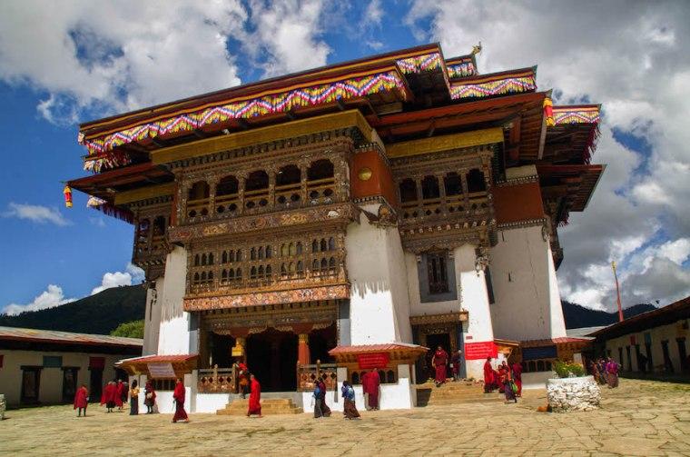 Uno de los muchos monasterios budistas que visitamos en nuestro viaje por Bután