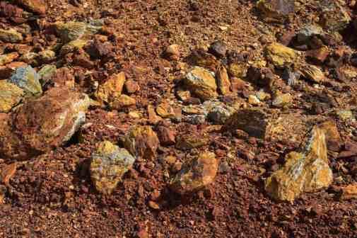 El suelo de Riotinto es rico en metales y minerales