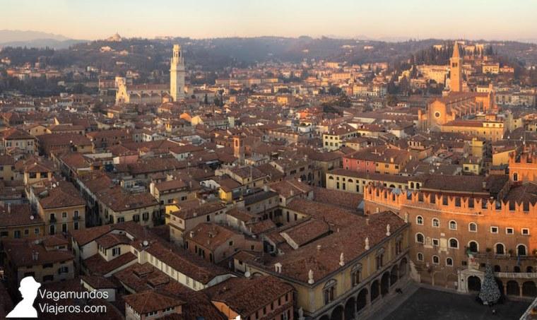Atardecer sobre Verona desde la torre Lamberti