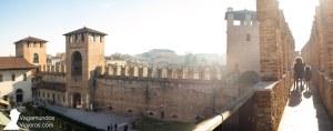 Paseando por las almenas y torres del Castelvecchio de Verona