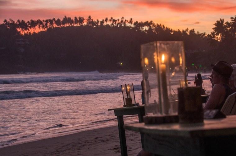 Atardecer en la playa de Mirissa, Sri Lanka