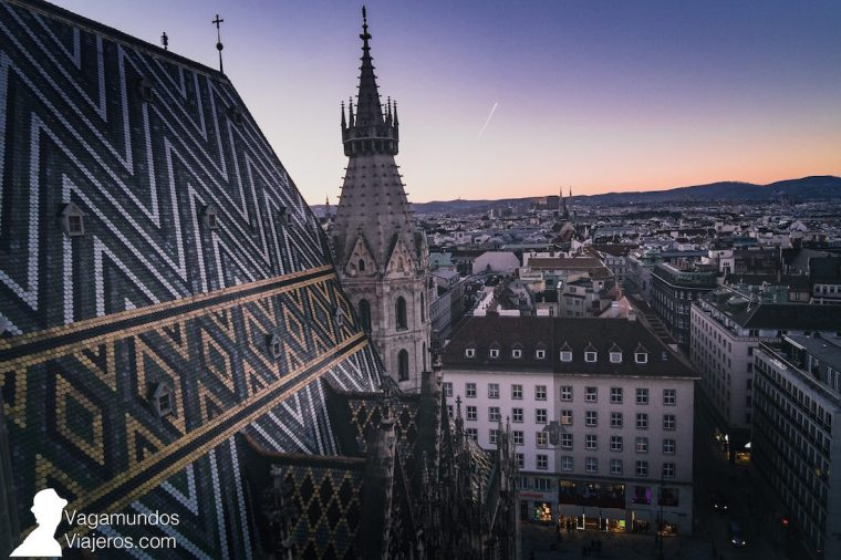 Vistas desde la Torre de la Catedral de San Esteban en Viena