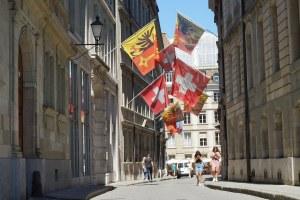 Zona del Ayuntamiento en el centro histórico de Ginebra