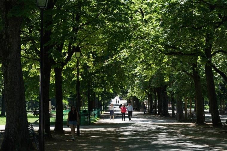 Parque de los Bastiones en Ginebra, Suiza