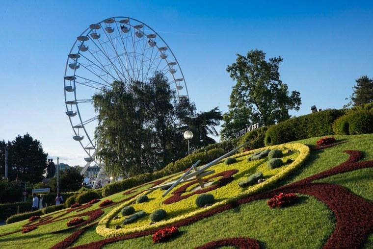 Reloj de flores en Ginebra