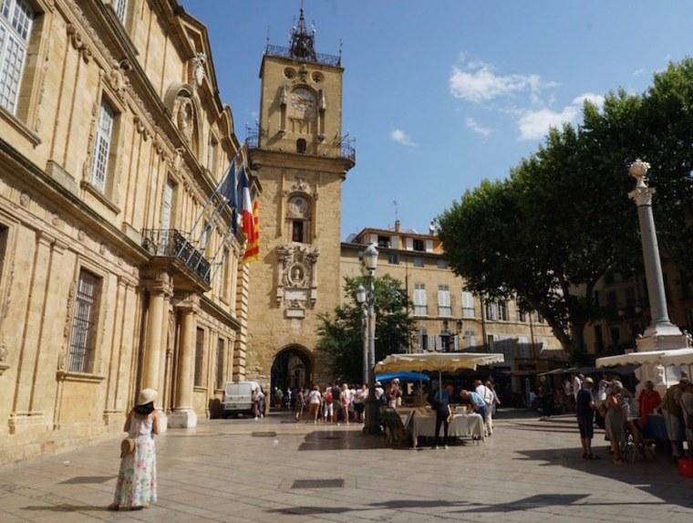 Plaza del Ayuntamiento de Aix en Provence, Francia