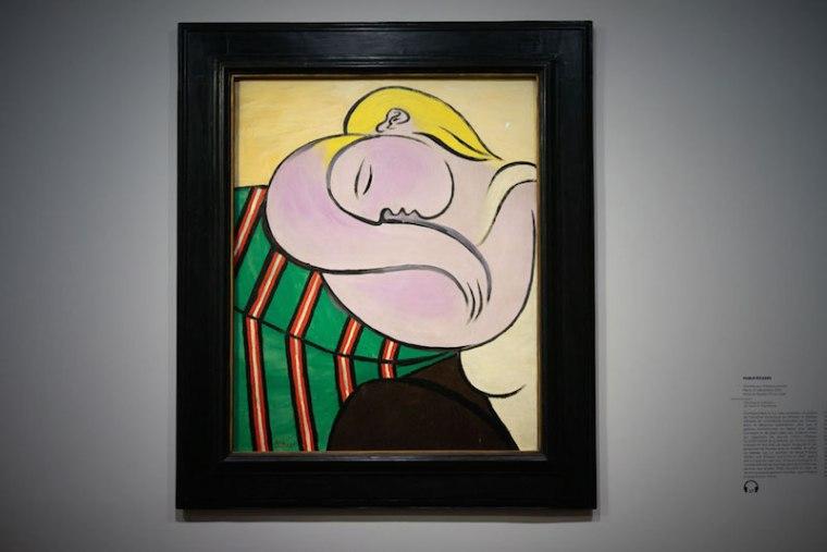Cuadro de Picasso en la exposición de la Colección Tannhauser en el Hotel du Caumont, Aix en Provence