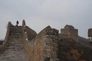 Tramo sin restaurar en Jinshanling, en la Gran Muralla China
