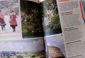 Páginas interiores de la guía Lonely Planet de Vietnam