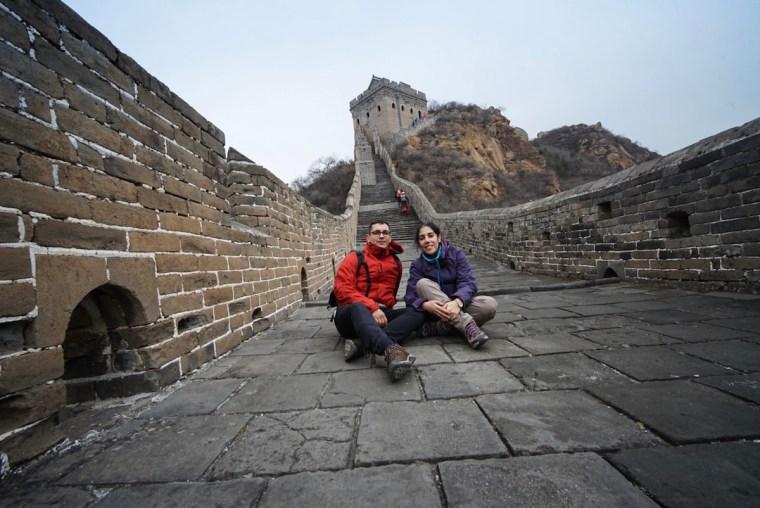 Vagamundos Viajeros en el sector Jinshanling de la Gran Muralla China
