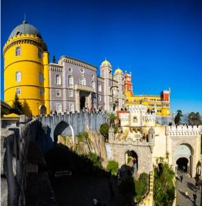 Entrada al Palacio da Pena en Sintra