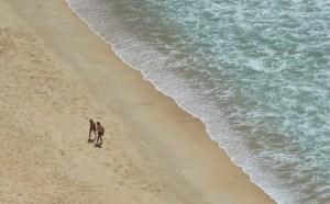 Vista de la playa de Nazaré desde el mirador de Suberco