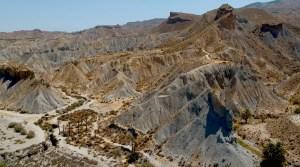 El desierto de Tabernas en Almería