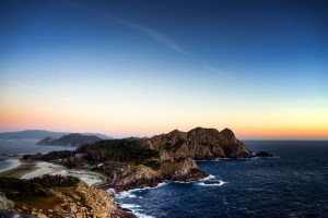 Atardecer en las islas Cíes desde el Mirador Alto do Príncipe