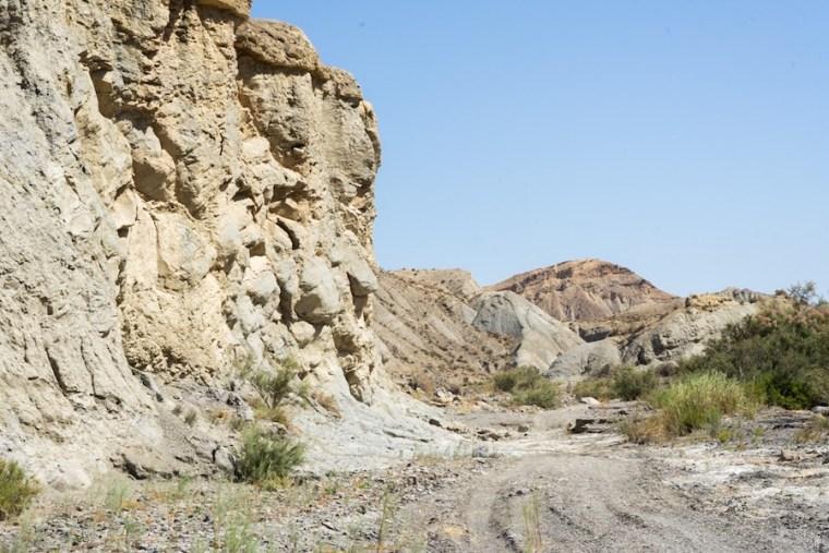 Paredes rocosas en el desierto de Tabernas, Almería