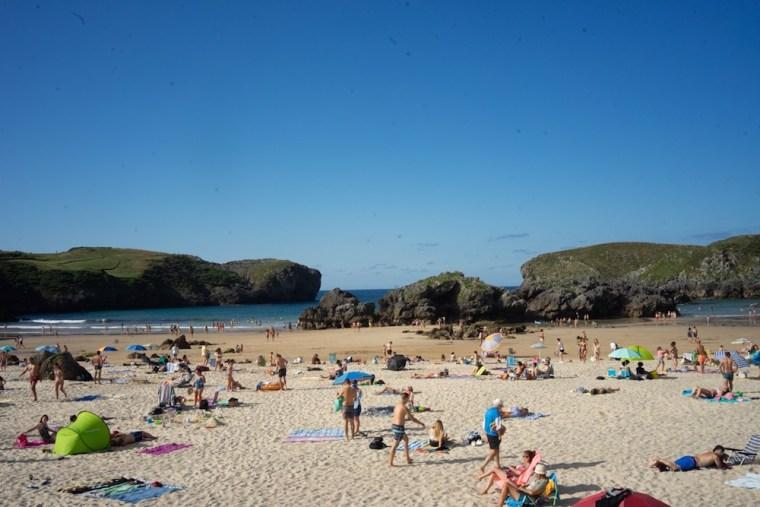 Playa de Borizu en Celorio, Llanes, Asturias
