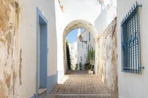 Calles del centro histórico de Albufeira