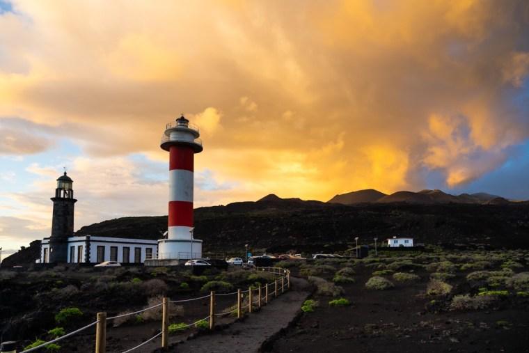 Atardecer en el Faro de Fuencaliente, La Palma