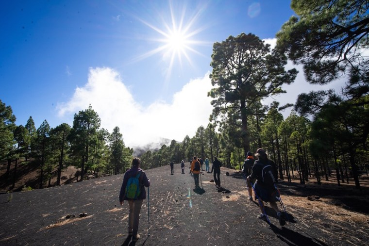 Caminando la ruta de los Volcanes en La Palma