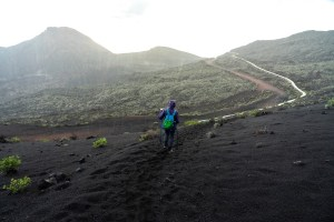 Tramo final de la Ruta de los Volcanes bajo la lluvia, La Palma