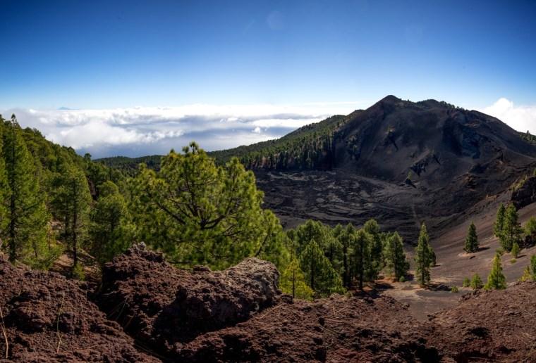 Volcán Duraznero en la ruta de los Volcanes en La Palma