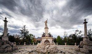 Fuente de Hércules en la entrada al Jardín del Parterre, Aranjuez