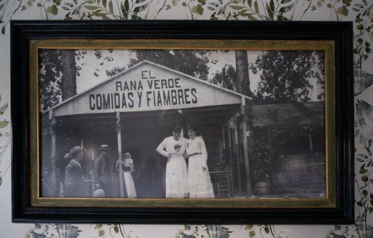 Foto de los inicios de El Rana Verde a principios del siglo XX en Aranjuez