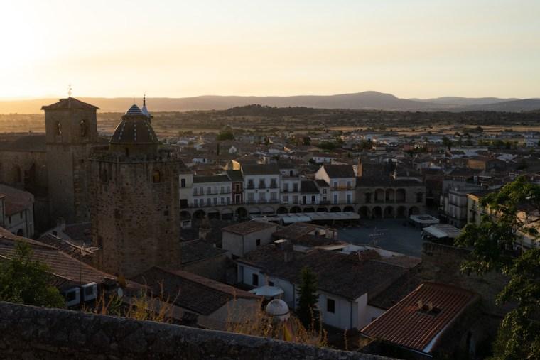 Vistas desde el Mirador de las Monjas en Trujillo