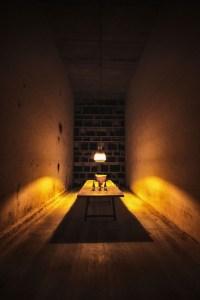 Sala de cata en la bodega de la Ribeira Sacra Domino de Bibei