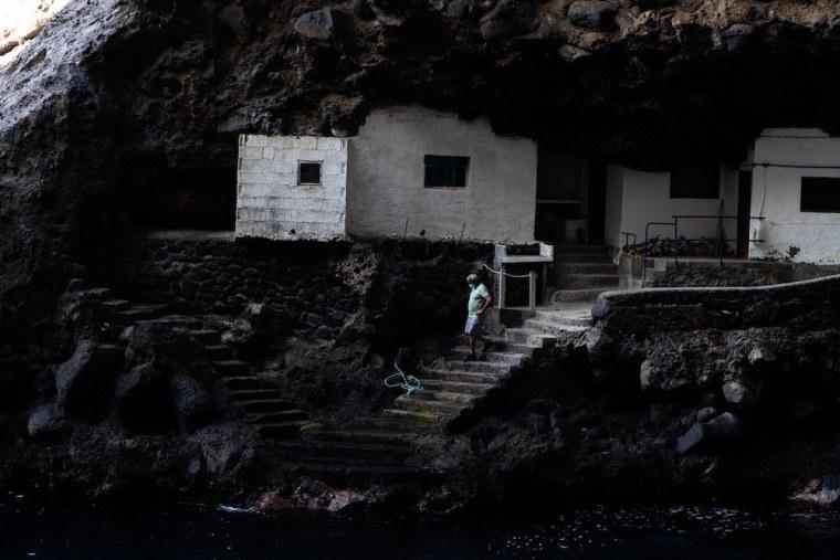 Uno de los vecinos de Porís de Candelaria, La Palma