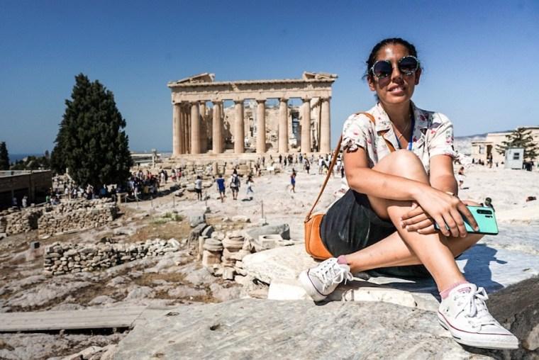 El Partenón en la Acrópolis de Atenas, Grecia