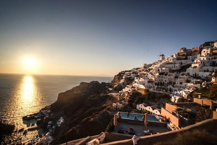 El mítico atardecer en Oia, Santorini