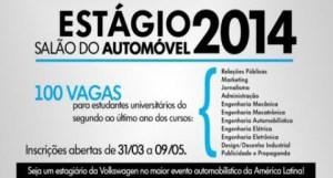 Vagas de emprego Salão do Automóvel SP 2014 01