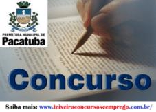 Concurso Prefeitura de Pacatuba 2014 - Inscrição e Edital