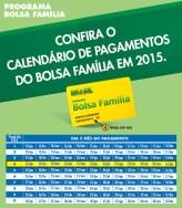 Tabela de pagamento Bolsa Família 2015 - Calendário, Datas 01