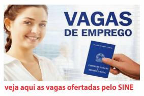 Empregos Cruzeiro do Sul AC - Sine, Hoje 01