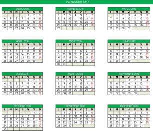 Calendário 2016 - 6