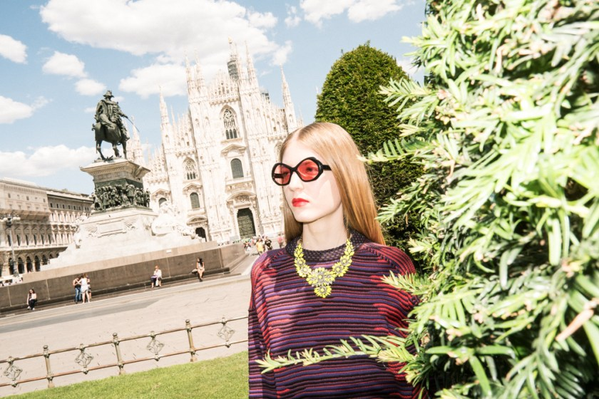 Milan fashion editorial Davide Lantermoz look 1
