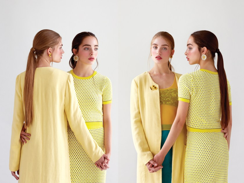 women's style editorial yellow outfits