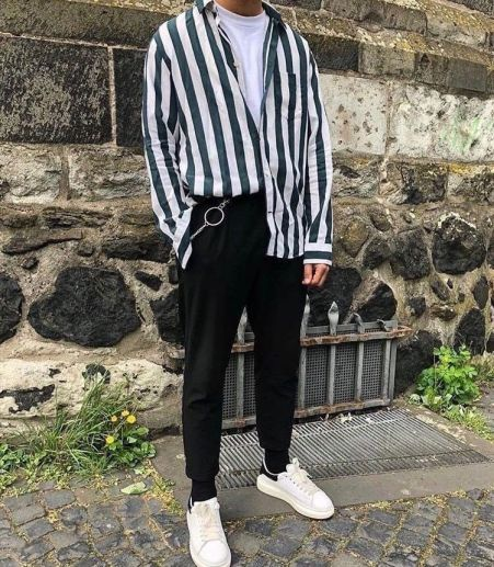 how to dress like an eboy necklaces layer stripes chains