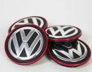 ORIGINAL VW Nabenkappe / RADKAPPE 5G0 601 171 B LYC Golf GTI Clubsport tcr (Roter Rand)