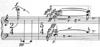 Klavierstück 1 - Groupe 9 - Mesures 10-11