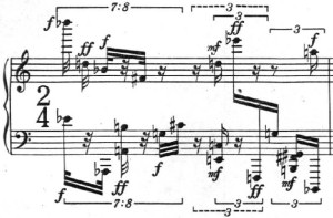 Klavierstück 1 - Groupe 11 - Mesure 13