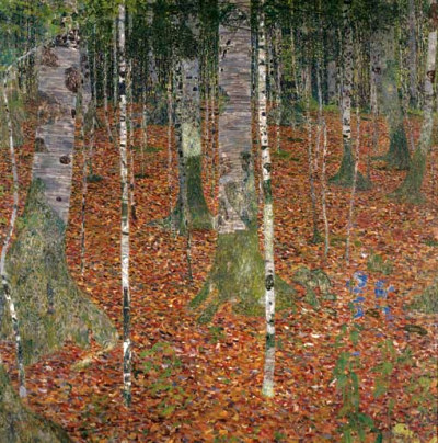 "Gustav Klimt ""Birch forest"""