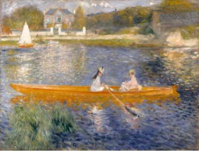 """Pierre-Auguste Renoir - """"La Seine à Asnières"""""""