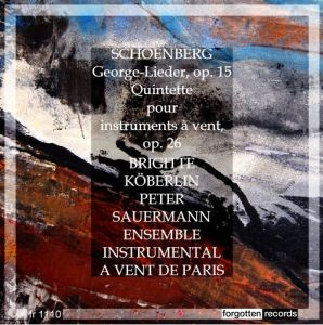 Arnold Schoenberg - Forgotten records